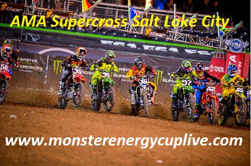 AMA Supercross Salt Lake City live